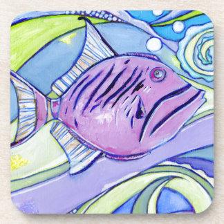 Dessous-de-verre Poissons de Surfin
