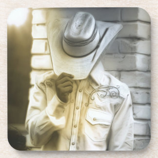 Dessous-de-verre Portrait de cowboy