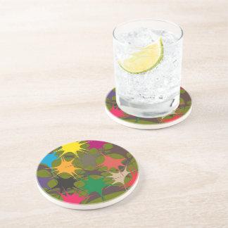 Dessous de verre potables multicolores - peinture
