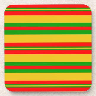 Dessous-de-verre Rayures jaunes, rouges et vertes 2 du Bénin
