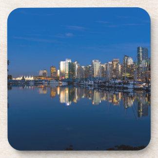 Dessous-de-verre Réflexion bleue d'heure de Vancouver AVANT JÉSUS
