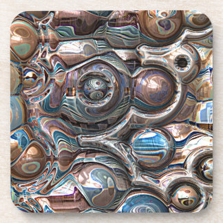 Dessous-de-verre réflexions 3D de cuivre