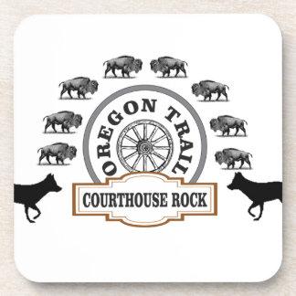 Dessous-de-verre renard de bison de roche de tribunal