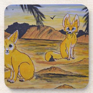 Dessous-de-verre Renards de Fennec dans le désert