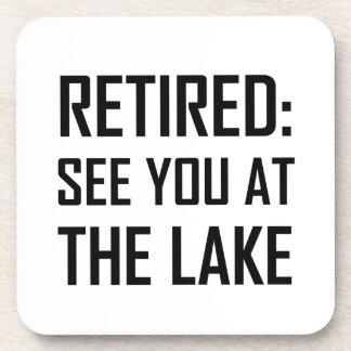 Dessous-de-verre Retiré voyez-vous au lac