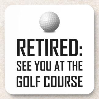 Dessous-de-verre Retiré voyez-vous au terrain de golf