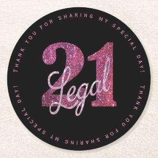 Dessous-de-verre Rond En Papier 21ème Parties scintillantes juridiques de la