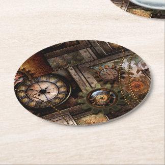 Dessous-de-verre Rond En Papier Conception merveilleuse de steampunk