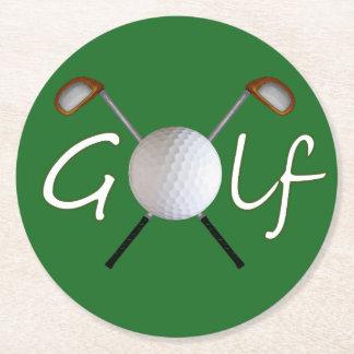 Dessous-de-verre Rond En Papier Dessous de verre de golf