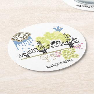 Dessous-de-verre Rond En Papier Dessous de verre de Portland de pont de Hawthorne