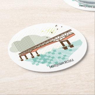 Dessous-de-verre Rond En Papier Dessous de verre de Portland de pont de Marquam