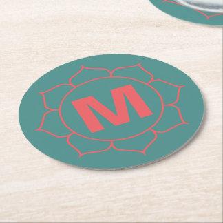 Dessous-de-verre Rond En Papier Dessous de verre floraux simples de papier de