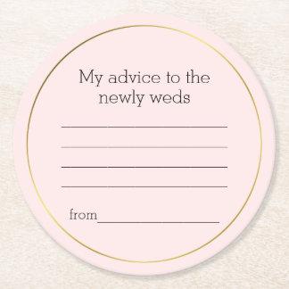 Dessous-de-verre Rond En Papier Dessous de verre roses de papier de conseil de