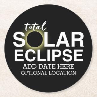 Dessous-de-verre Rond En Papier Éclipse solaire totale 2017 - date et emplacement