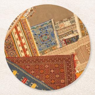 Dessous-de-verre Rond En Papier Fin de collage de tapis