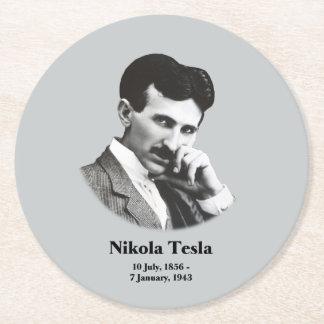 Dessous-de-verre Rond En Papier Jeune Tesla