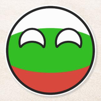 Dessous-de-verre Rond En Papier La Bulgarie Geeky tendante drôle Countryball