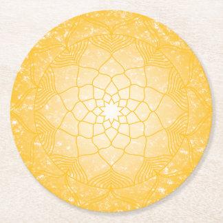 Dessous-de-verre Rond En Papier Le plexus solaire Chakra
