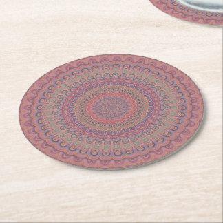 Dessous-de-verre Rond En Papier Mandala d'ovale de Boho