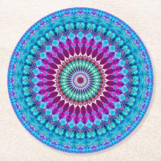 Dessous-de-verre Rond En Papier Mandala géométrique G382 de dessous de verre de