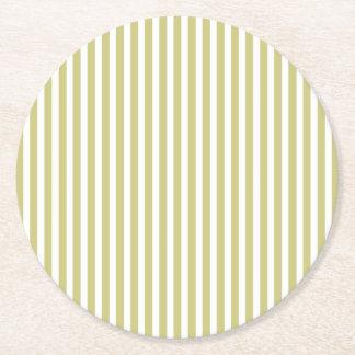 Dessous-de-verre Rond En Papier Motif vert et blanc de fougère molle de cabane de