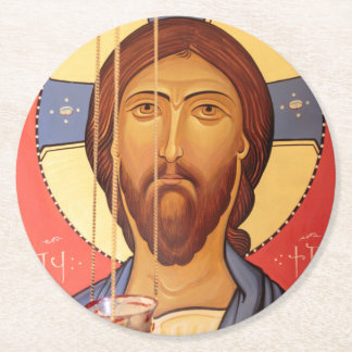 Dessous-de-verre Rond En Papier Peinture de Jésus