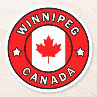 Dessous-de-verre Rond En Papier Winnipeg Canada