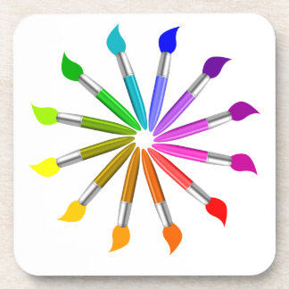 Dessous-de-verre Roue de couleur de pinceau, théorie de couleur de