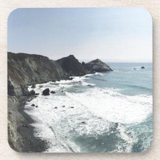 Dessous-de-verre Route grand Sur de Côte Pacifique de vue d'océan