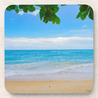 Dessous-de-verre Sable tropical pittoresque et surf de Sun de plage