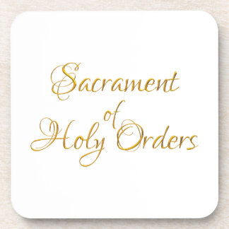 Dessous-de-verre Sacrement du regard 3D d'or d'ordres saints