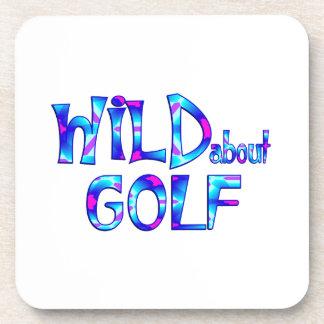 Dessous-de-verre Sauvage au sujet du golf