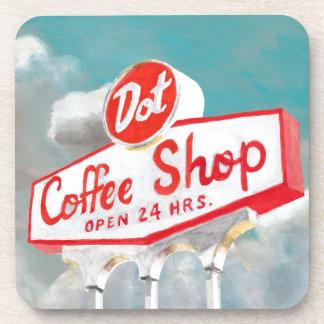 Dessous-de-verre Signe américain de café-restaurant du bord de la