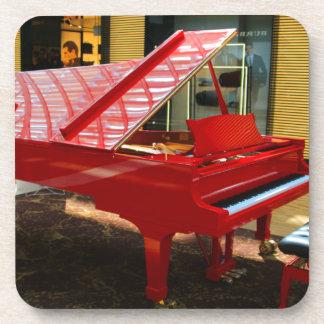 Dessous-de-verre Simplement rouge : piano à queue