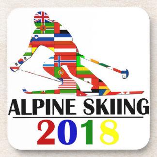 DESSOUS-DE-VERRE SKI 2018 ALPIN