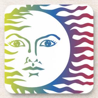 Dessous-de-verre Solaire léger chaud de visage coloré