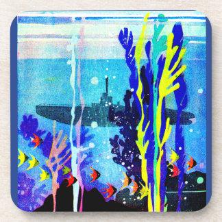 Dessous-de-verre sous-marin fantomatique dans les eaux tropicales