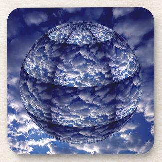 Dessous-de-verre Sphère abstraite du nuage 3D