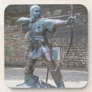 Dessous-de-verre Statue de Robin Hood par la photo de château de