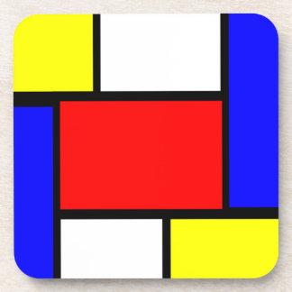 Dessous-de-verre Style de motif de Mondrian