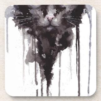 Dessous-de-verre T-shirt fâché de chat
