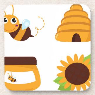 Dessous-de-verre T-shirts avec la petites abeille et substance