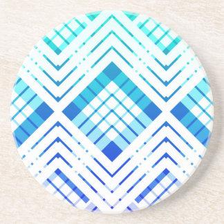 Dessous de verre Tartan revisté - bleu