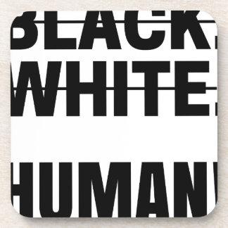 Dessous-de-verre Tasse humaine blanche noire de sweat - shirt à