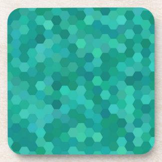 Dessous-de-verre Teal hexagonal