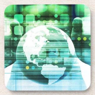 Dessous-de-verre Technologie futuriste de la Science comme art de