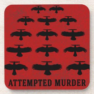 Dessous-de-verre Tentative de meurtre - escadron des corneilles