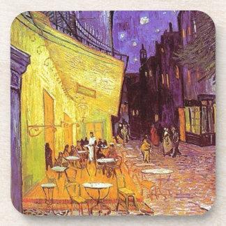 Dessous-de-verre Terrasse de café de Van Gogh la nuit
