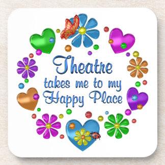 Dessous-de-verre Théâtre mon endroit heureux