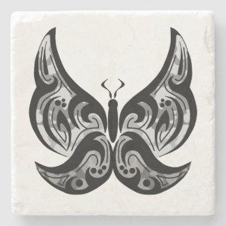 Dessous de verre tribaux de papillon dessous-de-verre en pierre